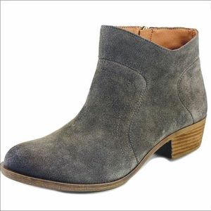 Lucky Brand Brolley Grey Suede Ankle Boots 7